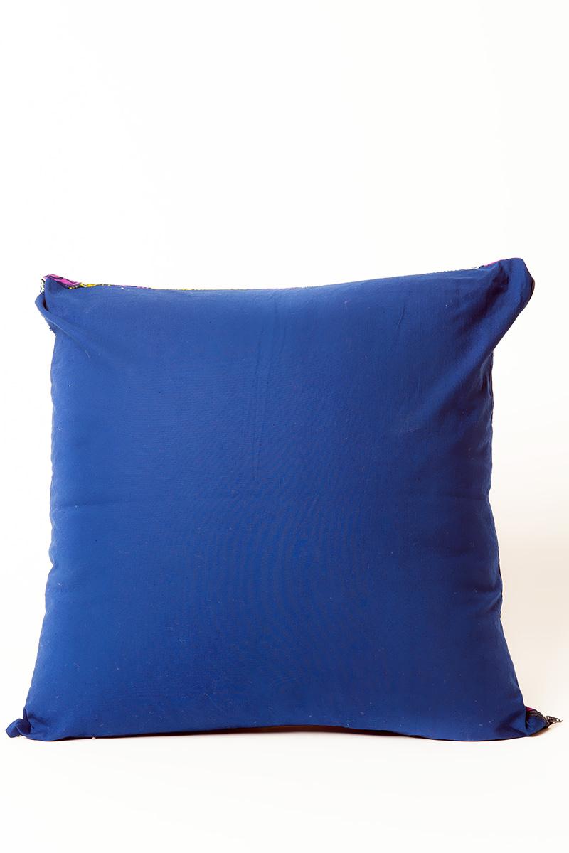 Federa cuscino arredo quadrato blu giallo e verde for Cuscini d arredo on line